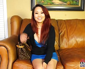 Asian inexperienced girl gets dirty on casting couch
