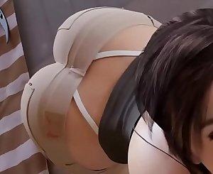 Lara croft sucking a big cock hentai