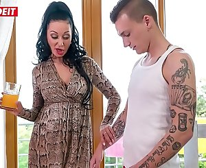 Step Son gets in Couch with Mom After Being Seduced