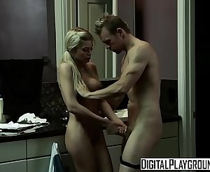 Pigtail blonde (Riley Steele) gets step dads cock in the bathroom - Digital Playground