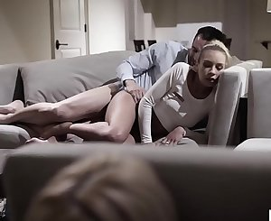 Older French Man tricked the naive BFFs - Kenzie Reeves and Carmen Caliente