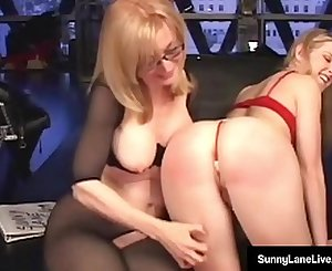 Younger Sunny Lane Penalized By Almost Granny Nina Hartley!