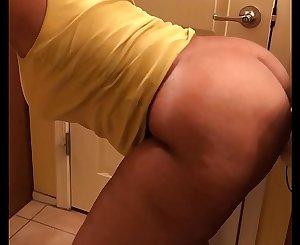 Wifey caught fucking dildo in bathroom