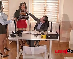 Chesty Twins Kesha Ortega & Sheila Ortega Fuck the Daylights out of their Dirty Boss GP162