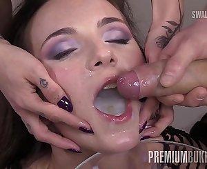 PremiumBukkake - Kristy Black swallows 60 big loads in gokkun bukkake