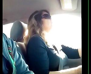 Student Dick Flashing Teacher In Car