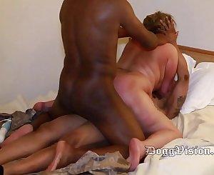 Big Butt 48y Wife Enjoys BareBack Threesome
