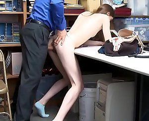 Tall Skinny Teen Fucked By Security Guard