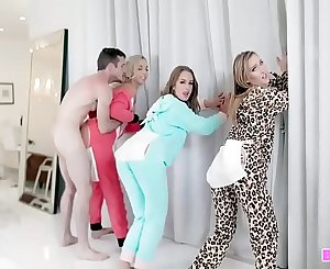 Group Of Honeys Fucked By Same Dude