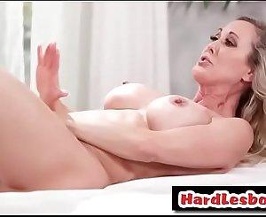 Busty milf masseuse licking vagina - Brandi Love & Uma Jolie