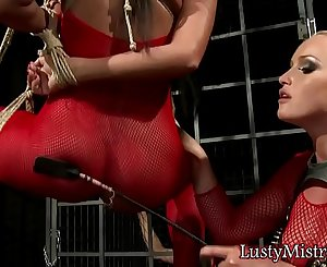 Mistress Playing With Her Slave