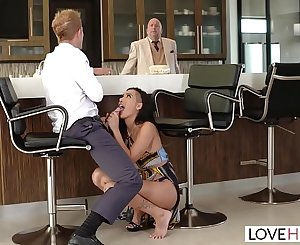 LoveHerFeet - Passionate Hook-up With Hot Brown-haired Amia Miley Behind Her Boyfriends Back