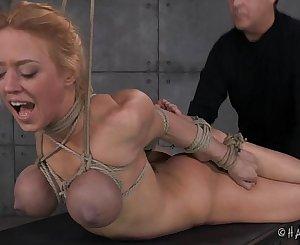 Big Tits Blond In Rope Restrain bondage