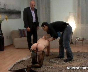 Russian girl sniff sperm after a lot of assfuck