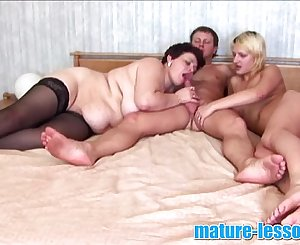 young couple fucking with chubby mature
