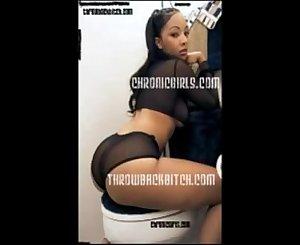 Crazy Black bitch set fire side bitch b4 fuckin in ass
