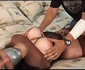 dahlia bondage in pantyhose encased